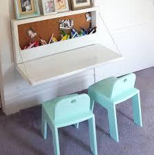 Kids Desk With Storage Wall Mounted Secretary Desk Or Murphy Desk