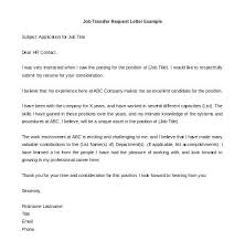 Employee Transfer Letter Pdf Cover Letter Request For Transfer Ishikeduiqletter Format For