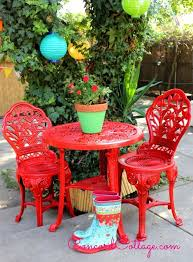 colorful painted furniture. Perfect Colorful Outdoor Furniture Rustoleum Spray Paint Bistro Set Red Furniture  Living Throughout Colorful Painted Furniture
