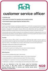 Ngo Recruitment Customer Service Officer Hume Community Housing
