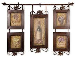 Kitchen Decorations For Walls Wine Themed Tuscan Wall Decor Ideas On