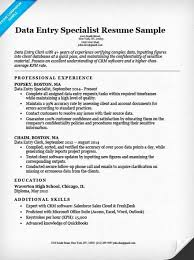 Data Entry Resume Template Simple Data Entry Professional Resume Sample New Data Entry Resume Template