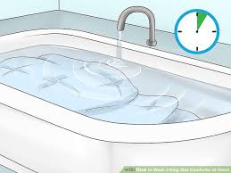 image titled wash a king size comforter at home step 12