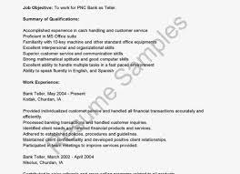 Resume For Teller A Good Job Resume