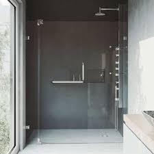 vigo vg6042bncl60 54 60 pirouette frameless pivot hinge shower door with 304
