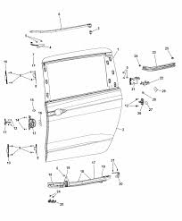 2017 chrysler pacifica sliding door shell and hinges diagram i2343281