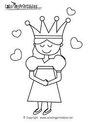 Princess Coloring Page - A Free Girls Coloring Printable