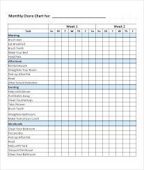 Monthly Chart Template Jsondb Me