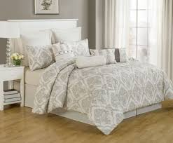 ivory and grey california king comforter sets with wonderful pattern for bedroom decoration ideas