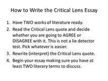 How to write a good response to literature essay Paisaje Indeleble best  photos of critique essay