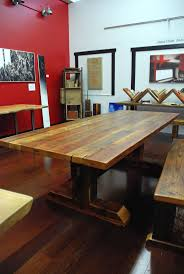 Reclaimed Timber-Frame Trestle Table, Farm Table. $1,895.00, via Etsy.