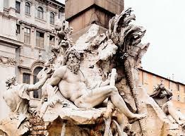 gian lorenzo bernini italian artist com fountain of the four rivers marble fountain by gian lorenzo bernini 1648 51