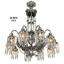 antique crystal chandelier gothic style 10 arm ceiling light fixture ant 535 for