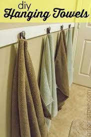 hanging towel. Brilliant Hanging DIY Hanging Bathroom Towels And Towel B