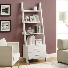 monarch bookcase h  white ladder with  storage drawers