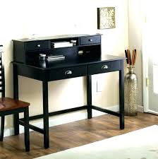 small black writing desk with drawers hutch keyboard tray writing desk in distressed black