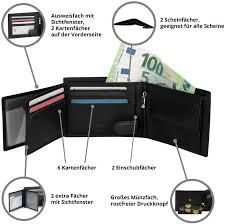 Mokies Men's Wallet <b>100</b> % <b>Genuine Cowhide</b> Leather RFID and ...
