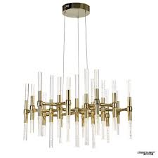 molecule led 38 light round adjule ceiling pendant gold