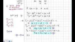 linear quadratic and cubic patterns
