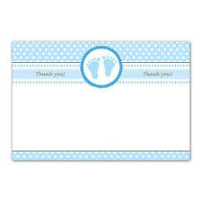 Baby Boy Thank You Cards 30 Blank Thank You Card Notes Blue Polka Dots Baby Boy Shower A1 Ebay