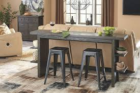 cool and ont long counter height table torjin brown gray dining room set from x