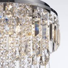 marquis by waterford bresna 38cm mixed crystal bathroom flush