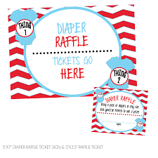 raffle sign thing one thing two diaper raffle tickets sign kateogroup