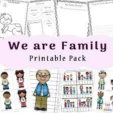 Family Theme Preschool and Family Worksheets For Kindergarten ...