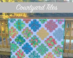 Mosaic quilt pattern   Etsy & Courtyard Tiles Quilt Pattern Adamdwight.com