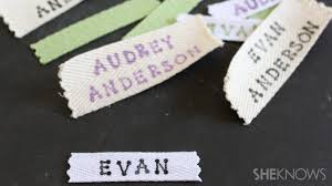 Diy Clothing Label Your Kids Wont Lose Their Packs At School With These Cute