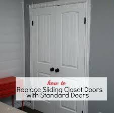 18 inch closet door how to replace sliding closet doors with standard doors great tutorial from 18 inch closet door