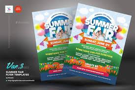 Fun Brochure Templates Summer Fair Flyer Templates