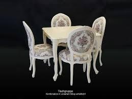 Tisch Esstisch Esszimmertisch Antik Stil Massiv In Cremeweiß