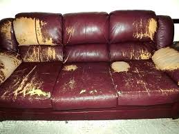 worn leather couch how to repair out chair