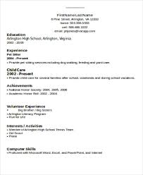 Simple Resume Format Doc
