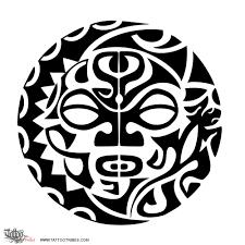 полинезийское солнце тату эскизы