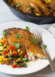perfect pan fried tilapia southwest skillet recipe