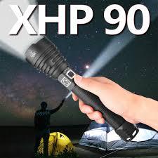 Mạnh Mẽ XHP50 XHP70.2 XHP90 LED Đèn Pin Đèn Pin Sạc Siêu Chống Thấm Nước  Zoom Tốt Nhất Cho Cắm Trại Câu Cá Săn Bắn Ánh Sáng|LED Flashlights