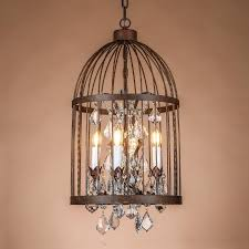 retro vintage rust wrought iron cage chandeliers e14 large french empire style crystal chandelier 220v lamp hardware lighting gothic chandelier entryway