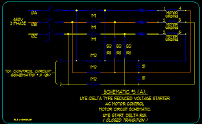 wye delta motor starting schematics ecn electrical forums schematic 3 a wye delta closed transition type starter motor circuitry