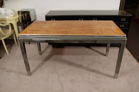 vintage steel furniture. 20th Century Vintage Industrial Steel Desk With Inset Wood Surface For Sale Furniture