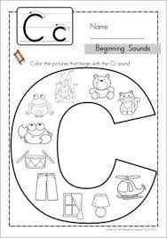 This is a collection of free, printable worksheets for teaching young esl learners recognition and writing of the letter c. Beginning Sounds Color It Alphabet Preschool Teaching Preschool Letter A Crafts