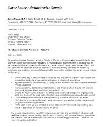 Sample Cover Letters For Administrative Positions Cover Letter