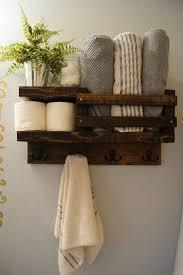 bath towel shelf bathroom wood shelf