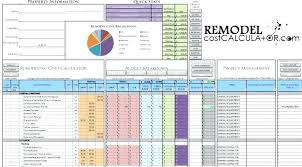 Home Renovation Budget Template Excel Free Remodel – Therunapp