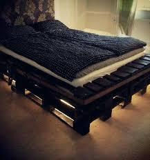 homemade bed frames pallet bed frame with lights building bed frames