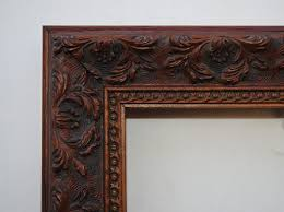 Antique wood picture frames Antique Wooden C4570 width 12 Svconeduorg Style C4570 Ornate Brown Wood Picture Frame Colorfinish Custom