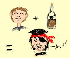 Image result for pirates drinking rum