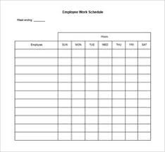 Weekly Employee Work Schedule Template Free Blank Schedule Pdf