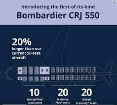 Crj7 Seating Chart Bombardier United Launch Crj550 Leeham News And Analysis